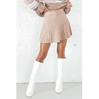 MINKPINK Beige Knit Mini Skirt