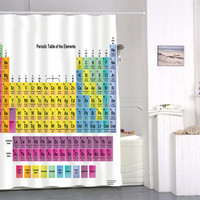 Periodic Table special custom shower curtains that will make your bathroom adorable