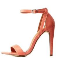 Blush Strappy Single Strap Dress Sandals by Charlotte Russe