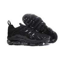 2018 Nike Air VaporMax Plus TN Triple Black | 924453-004 Sport Running Shoes - Best Online Sale