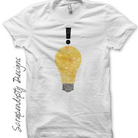 Good Idea Iron on Transfer - Lightbulb Iron on Shirt PDF / Mens Geek Tshirt / Kids Clothing Tops / Handy Man Shirt / Smart Baby Clothes IT97