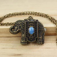 Simple Elephant Animal bronze Pendant Necklace Fashion Jewelry Vintage - gift to girlfriend and BFF
