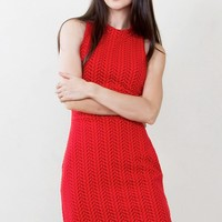 Valentine Red Knit Dress