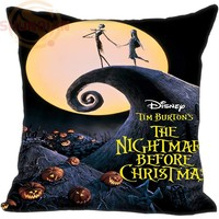 Hot Sale Custom The Nightmare Before Christmas Pillowcase  One SidesHome Cushion Cover Pillow Cases 9-22T