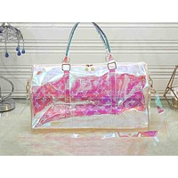 LV Hot Selling Fashion Transparent Printed Baggage for Men and Women