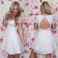 Bed Of Roses Babydoll Dress In Cream