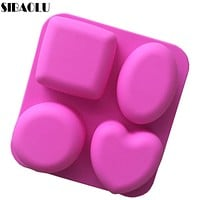 Basic Square Heart Oval Round Soap Silicone Mold Candle Making for Homemade Cake Decorating Tools Kitchen Accessories