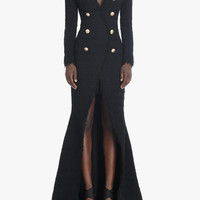 Long tweed dress | Women's dresses | Balmain