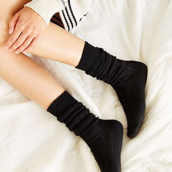 Rib Slouchy Boot Socks - Urban Outfitters