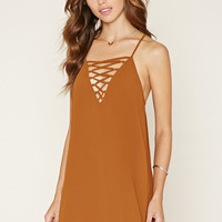 Lace-Up Cami Dress