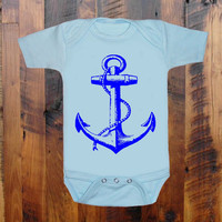 Anchor.Nautical.heart.love.baby clothing.Baby Shower gift. baby announcement. Grandmother.Mommy. Aunt.Daddy. Baby Onezee. creeper, bodysuit.