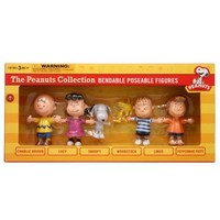 NJCroce Charlie Brown and The Peanuts Bendable Figures Set
