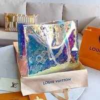 Inseva LV KEEPALL Laser Colorful Shopping Bag Handbag Shoulder Bag Crossbody Bag