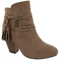SALE Taupe Tassel Booties
