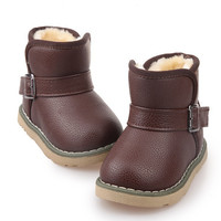 Comfy kids child snow boots shoes for girls boys boots fashion soft bottom baby girls boot  Kids Shoes Insoles 13-18CM