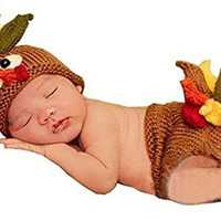 Baby Photography Cute Turkey Knitted Crochet Costume Hat Caps Diaper By Rexselect