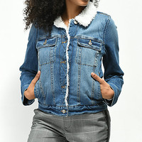Jolt Sherpa Lined Denim Jacket | Zumiez
