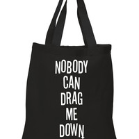 """One Direction """"Nobody Can Drag Me Down"""" 100% Cotton Tote Bag"""