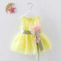 Summer Baby Girl Birthday Dress Lace Dress Children Colorful Floral Princess Dress kids baby girls sundress