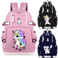 Deadpool Dead pool Taco Pink Unicorn Dabbing  Riding Backpack Cat School Bag Casual Teenagers Student Book Travel Laptop Bags AT_70_6