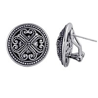 AE-6038-S Sterling Silver Earring With Plain Silver