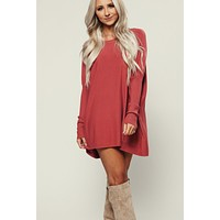 Eager Knit Tunic (Spice)