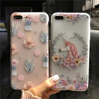 Phone Cases sFor iPhone 6 6S 7 8 Plus Case Silicone Cute Cartoon Coque Soft TPU Back Cover Case For Apple iPhone 6 6S 7 8 Plus