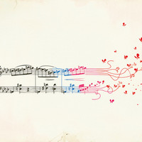 Fluttering Notes Stretched Canvas by Budi Satria Kwan