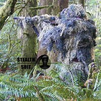StealthSuit Paintball Sniper 4-Piece Woodland Ghillie Suit - ML