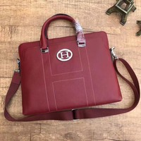 HERMES MEN'S NEW STYLE LEATHER BRIEFCASE BAG CROSS BODY BAG