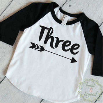 3 Year Old Birthday Shirt Boy Three Years Old Birthday Outfit Raglan Toddler Shirt 3rd Birthday Shirt Hipster Boy Clothes 113