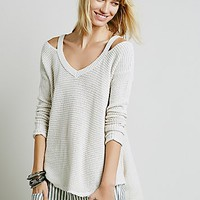 Free People Womens Moonshine V-neck Pullover