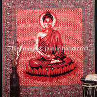 Meditation Buddha Tapestry, Multicolor Table Cloth Home Decor, Wall Art Bedspread, Indian Lord Buddha, Hippie Tapestry,Hippie Wall Hanging