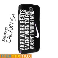 Nike Quote Hard Work Samsung Galaxy Series Full Wrap Cases