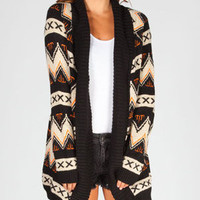 Full Tilt Tribal Womens Heavy Stitch Cardigan Multi  In Sizes