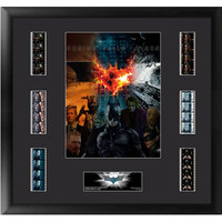Batman Dark Knight Trilogy Mixed Montage Framed Film Cell