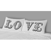 The Rise And Fall Love Pillowcase Set White One Size For Women 23999415001