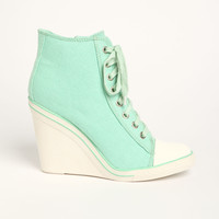 Canvas Lace Up Booties