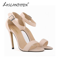 Free shipping Black Sexy Pumps Matte High Heels Shoes Open Toe Ankle Strap Pumps Women Wedding Party Shoes US4-11 102-3MA