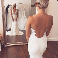Backless Wedding Dress, Bridal Gown ,Dresses For Brides, PM0027