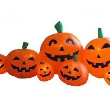 7.5 Foot Long Inflatable Halloween Pumpkins