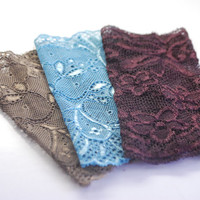 SPRING EDITION: 3 Lace Wrist Cuffs in Fresh shades Lace wrist Bracelets Fashion accessory Women Teens Many COLORS