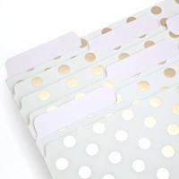 Kate Spade File Folders - Dot