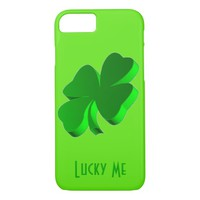 Good Luck Clover Lucky Me Green Funny Elegant iPhone 7 Case