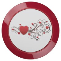Scrolled Heart USB Charging Station
