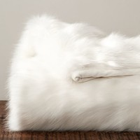 FAUX FUR THROW - SUN BEAR, IVORY