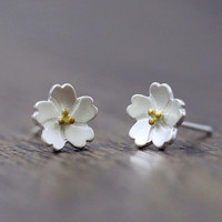 925 sterling silver sweet cherry blossom earrings, a perfect gift !