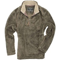 Pebble Pile Pullover 1/2 Zip in Cocoa Brown by True Grit