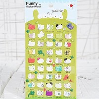 Fat Rabbit Puffy Stickers - Urban Outfitters