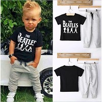 Kids Clothes Sets Short Sleeve Boy T-shirt Pants Suit Clothing Set born Sport Suits Children Baby Boy Clothes
